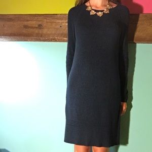 Dark Turquoise Knitted Sweater Dress